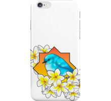 Birdie with frangipani flowers iPhone Case/Skin
