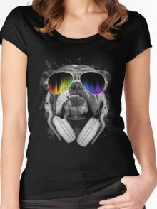 Bulldog DJ Women's Fitted Scoop T-Shirt
