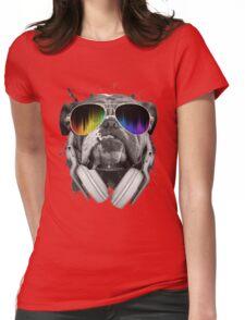 Bulldog DJ Womens Fitted T-Shirt