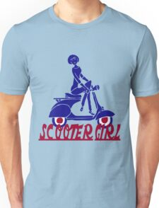 Retro look scooter girl design Unisex T-Shirt