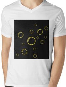 Black and yellow bubbles Mens V-Neck T-Shirt