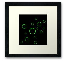 Green and black  bubbles Framed Print