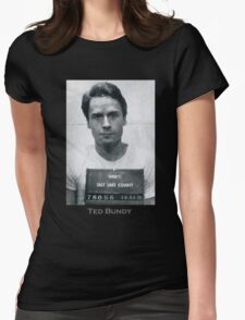 Ted Bundy Serial Killer Mugshot Womens Fitted T-Shirt
