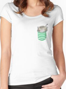 Cat in the pocket Women's Fitted Scoop T-Shirt