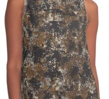 Dark Brown Camouflage Contrast Tank