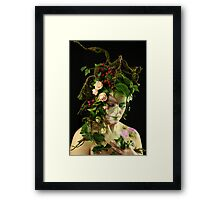 Waldelfe, fairy in the woods Framed Print