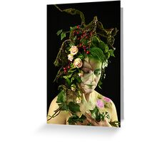 Waldelfe, fairy in the woods Greeting Card