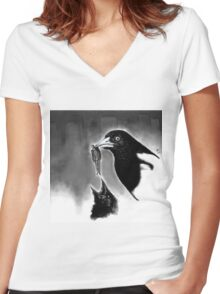 Magpie's world Women's Fitted V-Neck T-Shirt