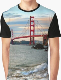 Golden Gate Bridge from the Pacific Ocean Graphic T-Shirt