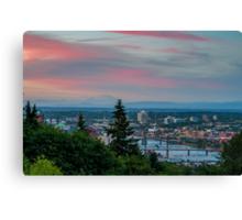 Portland Sunset from OHSU Canvas Print