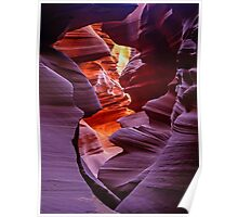 Light in the Slot, Lower Antelope Canyon, Page, Arizona USA Poster