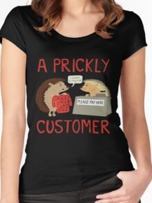 A Prickly Customer Women's Fitted Scoop T-Shirt