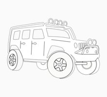 Jeep JK Wrangler Touring Spec:  Sticker / Tee - White Kids Tee