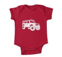 Jeep JK Wrangler Touring Spec:  Sticker / Tee - White One Piece - Short Sleeve