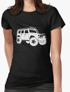 Jeep JK Wrangler Touring Spec:  Sticker / Tee - White Womens Fitted T-Shirt
