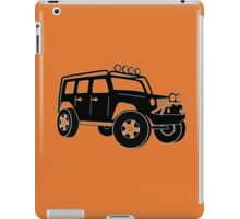 JK Jeep Wrangler Tourer Spec Front 3/4 Apparel | Tee Shirt, Hoodies & More - Black iPad Case/Skin