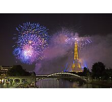 Eifel Tower Fireworks - Paris Photographic Print