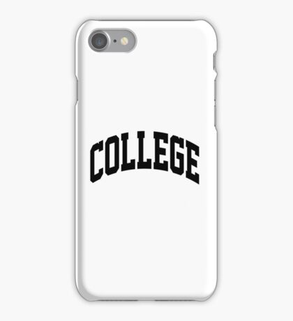 COLLEGE Education iPhone Case/Skin