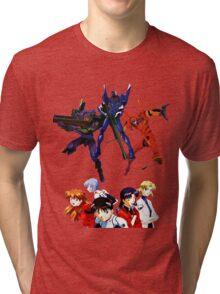 Neon Genesis Evangelion Eva's/Characters Tri-blend T-Shirt