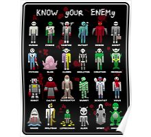 Know Your Enemy - Horror/Sci-Fi/Fantasy Creatures Poster