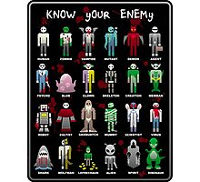 Know Your Enemy - Horror/Sci-Fi/Fantasy Creatures Photographic Print