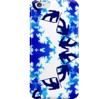 Snowboarder Jump Bright Blue Ice Sky Air Snowboarding Sport iPhone Case/Skin