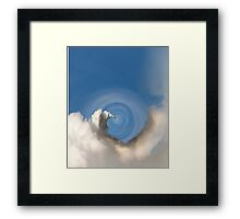 Whooshing Missile into the Center of Time Framed Print