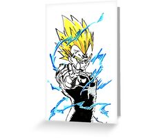 Majin Vegeta Greeting Card
