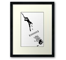 Zombungee Framed Print