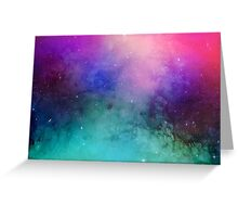 Mystical azure galaxy Greeting Card