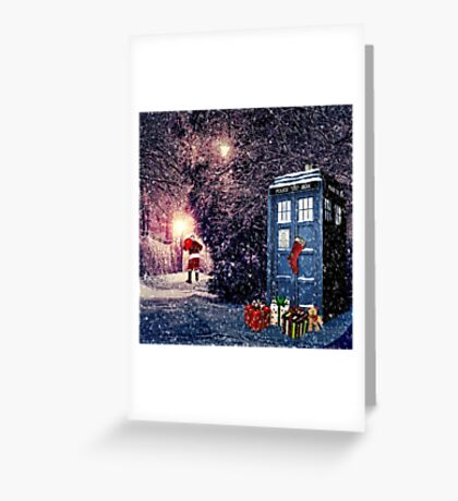 Tardis Christmas Greeting Card