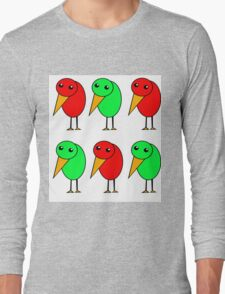 Green and red parrots  Long Sleeve T-Shirt