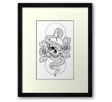 Rebirth Rose Skull Framed Print