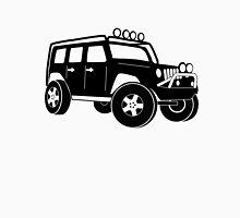 JK Jeep Wrangler Tourer Spec Front 3/4 Apparel   Tee Shirt, Hoodies & More - Black Unisex T-Shirt