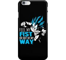Vegeta - Feel My Fist, Blue iPhone Case/Skin