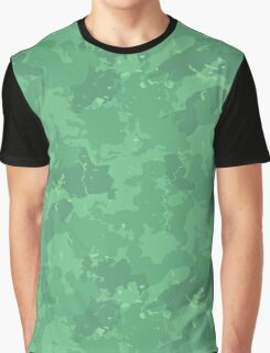 Forest Green Camo Pattern Graphic T-Shirt