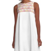 triangle pattern A-Line Dress