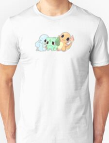 Cute Bulbasaur Charmander Squirtle. Pokemon Unisex T-Shirt