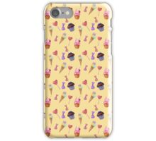Watercolor sweets pattern iPhone Case/Skin