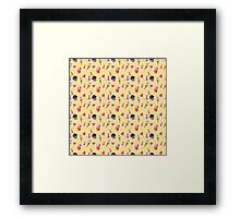 Watercolor sweets pattern Framed Print