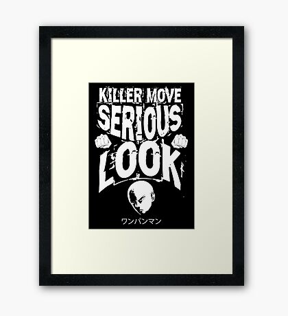 Killer Look Framed Print