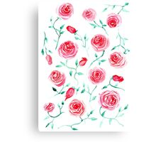 Watercolor provance roses Canvas Print