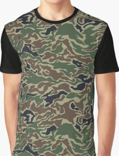 Woodland Camo Pattern Graphic T-Shirt