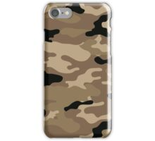 Brown Woodland Camo Pattern iPhone Case/Skin