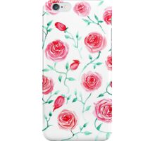 Watercolor provance roses iPhone Case/Skin