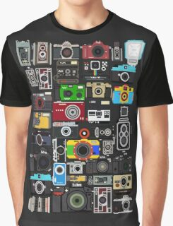 Pixelated Camerass Graphic T-Shirt