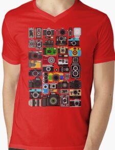 Pixelated Camerass Mens V-Neck T-Shirt