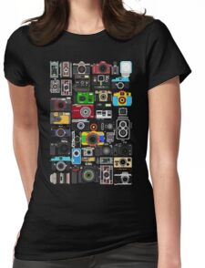 Pixelated Camerass Womens Fitted T-Shirt