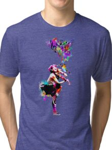 A Bird And The Violinist Tri-blend T-Shirt