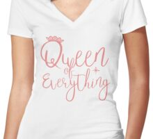 Women's Queen of Everything Women's Fitted V-Neck T-Shirt